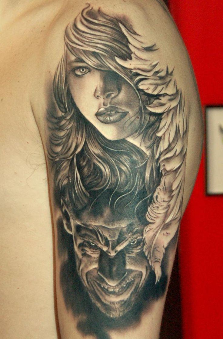 #angel #demon #tattoos