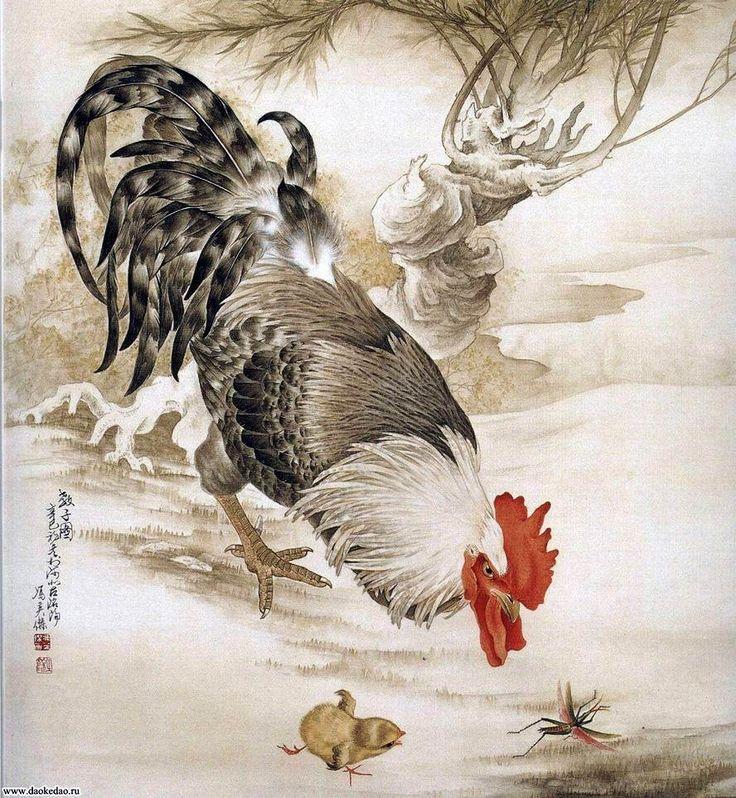 Китайский петух картинки