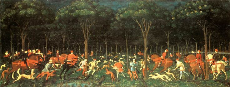 "Paolo Uccello ""The Hunt in the Forest"""
