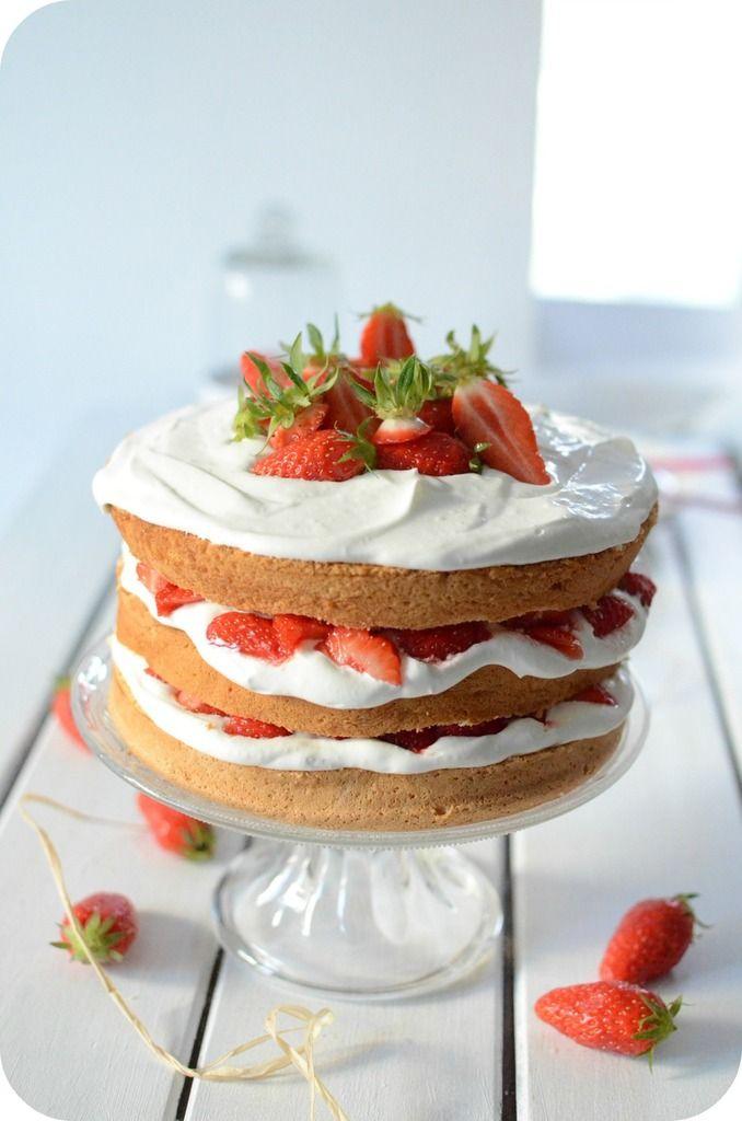 Layer Cake crème mascarpone et fraise