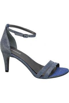 Metalik Mavi Topuklu Ayakkabı