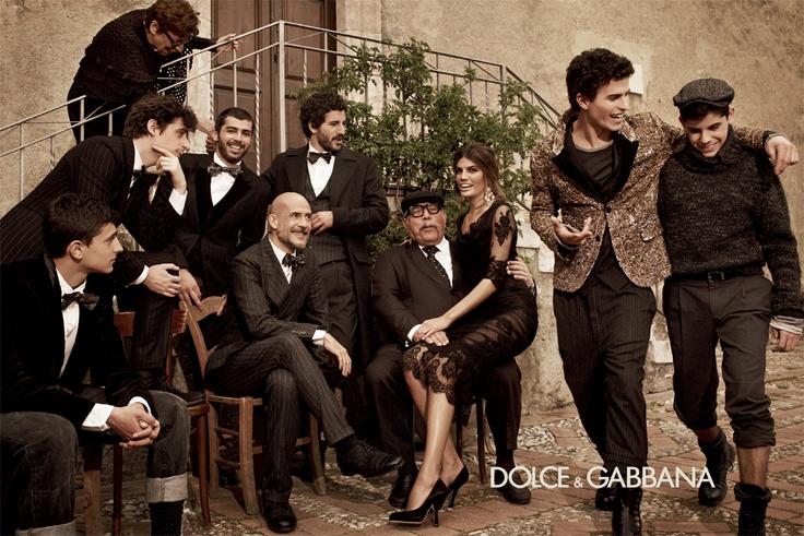 #dolcegabbana men's FW13: Actors Francesco Scianna, Brenno Placido, Flavio Parenti, Carmine Recano and Gianmarco Tognazzi, supported by Bianca Brandolini D'Adda