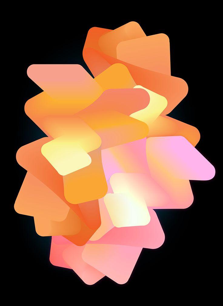 ※ My Orange Heart ※ @oozefina #gradient #ombre #3D #print #graphic #design