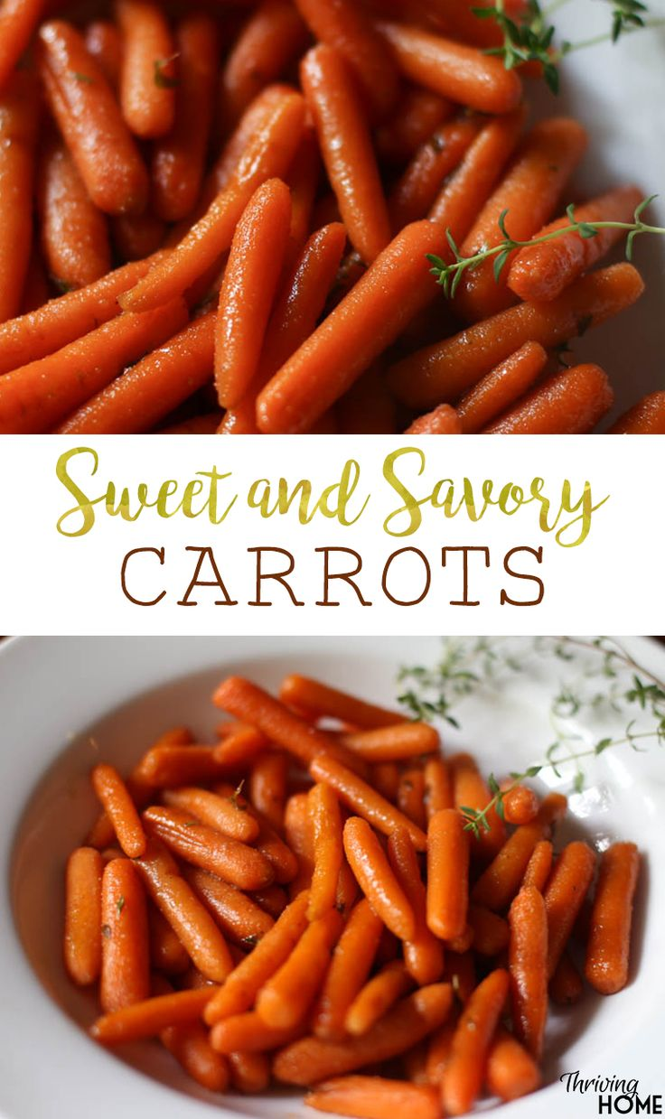 Sweet and savory carrots. A delectable, easy side dish that gives the baby carrot a boost of flavor.