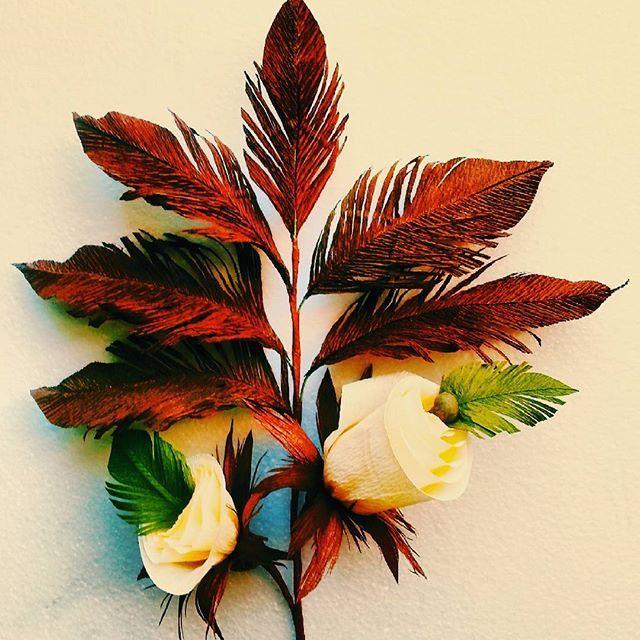 #Handmade #paper #crepepaper #decoration #leaves