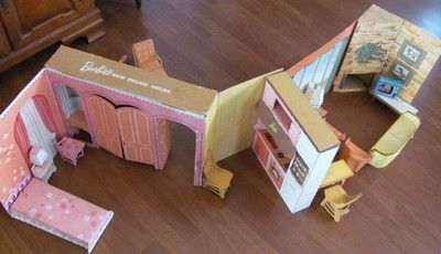 Vtg 1960s Original Barbie's New Dream House 4092 Cardboard Play Set Furniture | eBay