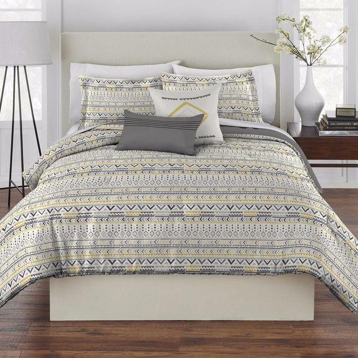 best 25 yellow comforter set ideas on pinterest yellow. Black Bedroom Furniture Sets. Home Design Ideas