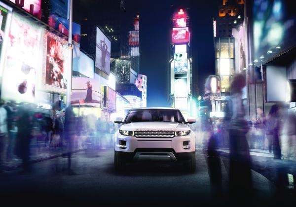 2012 Range Rover Evoque in Fuji White at #TimesSquare #NYC. #LandRover #RangeRoverEvoque