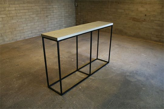 I've been looking for the perfect console table...you know, to cover with mail/purses/keys as soon as you walk in the door.