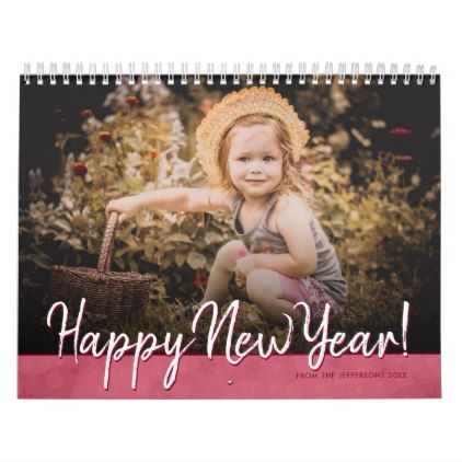2018 Family Photo Happy New Year Custom Picture Calendar - New Year's Eve happy new year designs party celebration Saint Sylvester's Day