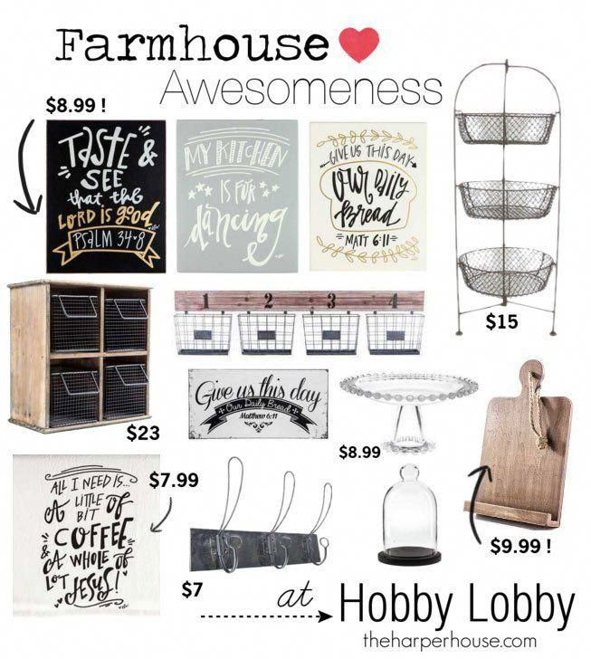 Hobby Lobby Is A Great Resource To Find Fixer Upper Farmhouse Style The Harper Hous Kitchen Decor Hobby Lobby Farmhouse Kitchen Decor Farmhouse Style Kitchen