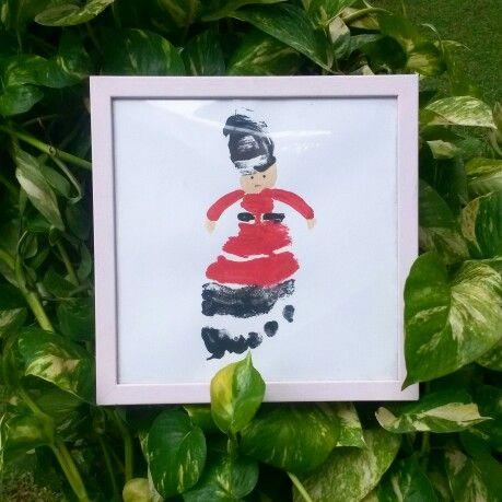 #OmemoriA queen's guard footprint art