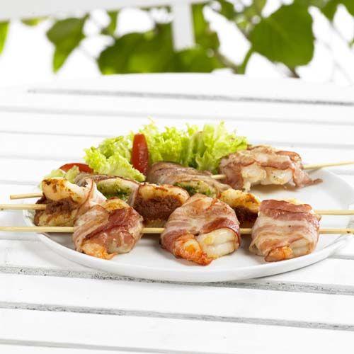 Gegrilde scampi's met zuiderse vulling - Colruyt Culinair !
