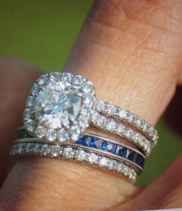"Anniversary add on to my ring ""thin blue line"""