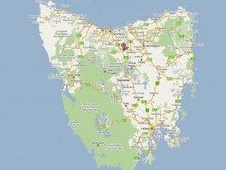 Map: Deloraine Tasmania
