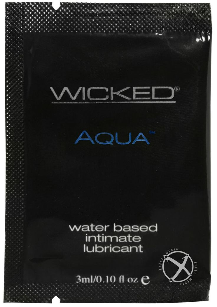 Buy Wicked Aqua Water Based Lubricant Unscented Foil Packs 144 Per Bag online cheap. SALE! $90.99