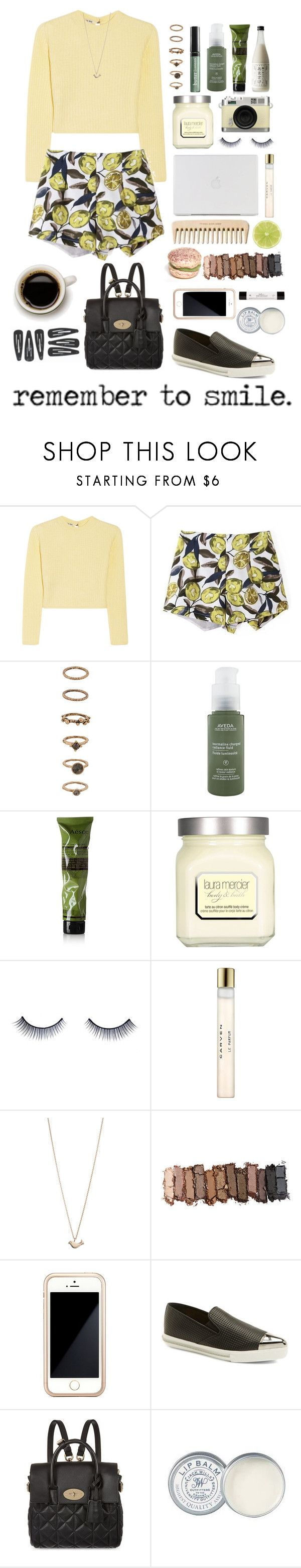 """""""Remember to smile :))"""" by moisanu-mara ❤ liked on Polyvore featuring Miu Miu, Forever 21, Butter London, Aveda, Aesop, Laura Mercier, Retrò, Napoleon Perdis, Carven and Minor Obsessions"""