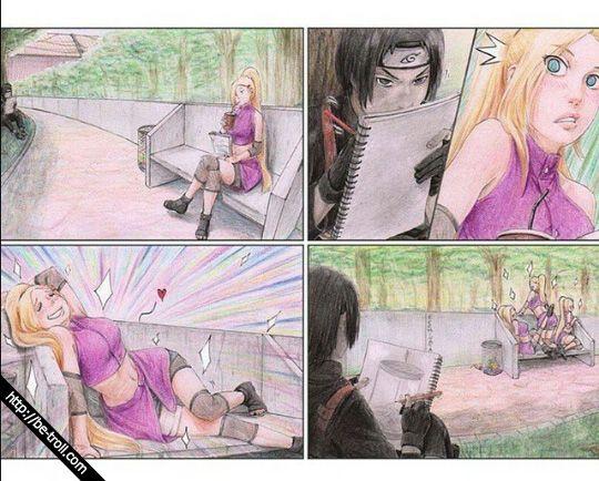 Elle prend la pose... Sauf que ce n'est pas elle que #Saï dessine... #Naruto