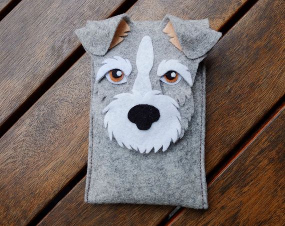 Schnauzer iPhone Case Dog Felt Phone Cover Cell by LayonStore