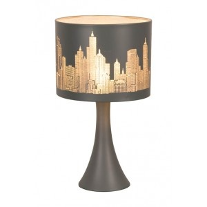 Lampe chevet tactile broadway gris mat