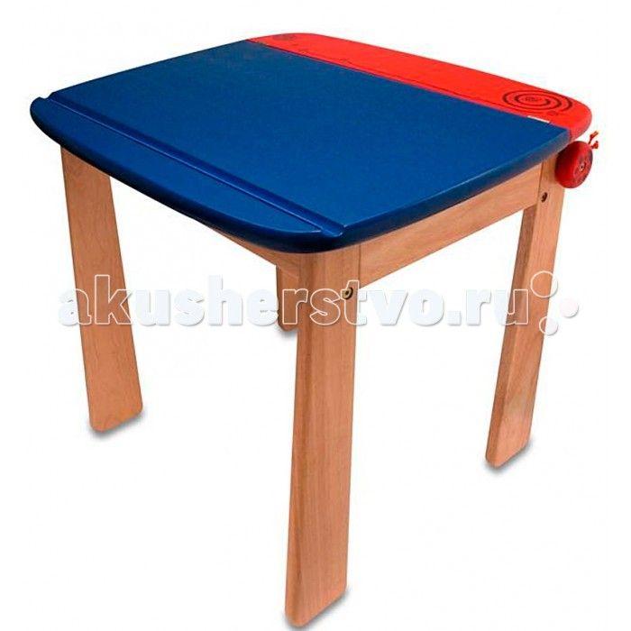 I'm toy Стол для рисования с держателем для рулона бумаги и контейнером  Стол для рисования с держателем для рулона бумаги и контейнером.  Удобный столик для рисования и других занятий творчеством с открывающейся столешницей, куда можно положить все необходимое. У него устойчивая конструкция и безопасные закруглённые углы.  Размеры столика: 60 х 52 х 54 см