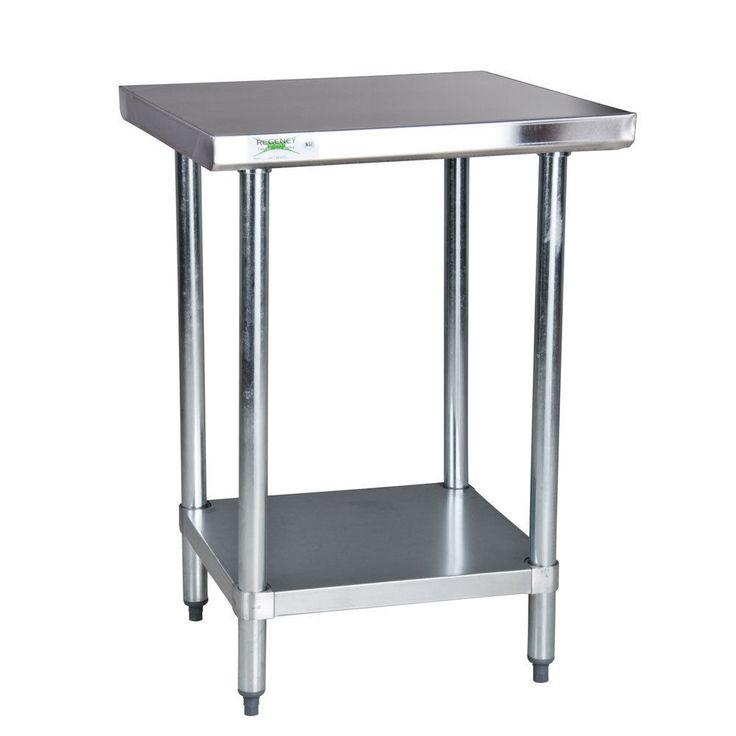"""Regency 18 Gauge 24"""" x 24"""" 304 Stainless Steel Commercial Work Prep Table #Regency"""
