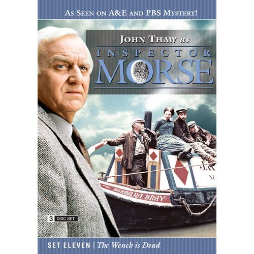 Inspector Morse Set Eleven The Wench is Dead DVD he Wolvercote Tongue - A precious jewel is missing and Morse suspects foul play in the death of its owner. Stars Simon Callow and Kenneth Cranham .  Last Seen Wearing - When a privileged schoolgirl goes missing, Morse is convinced she has been murdered, even though there is no body. Stars Elizabeth Hurley and Peter McEnery .  The Settling of the Sun - Morse investigates the murder of a Japanese student in what seems to be a ritual killing…