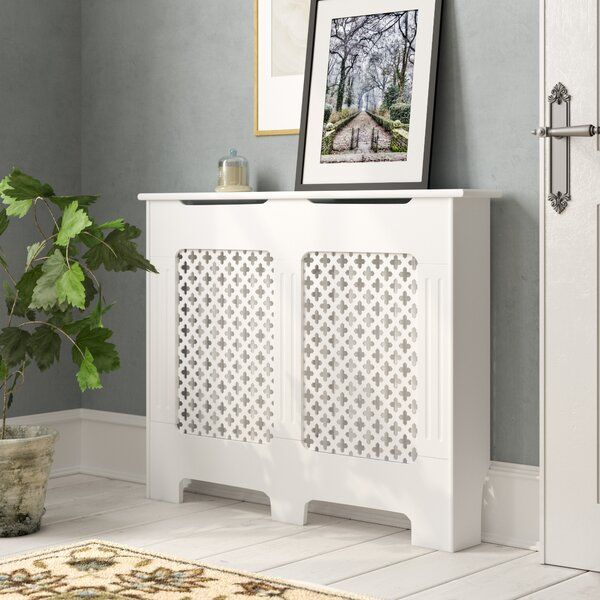 Vida Designs Oxford Radiator Cover White Traditional Painted MDF Cabinet Large