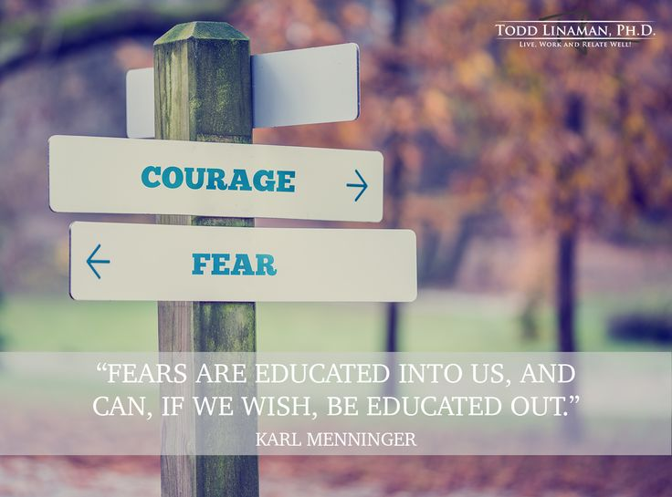 Educated fear.