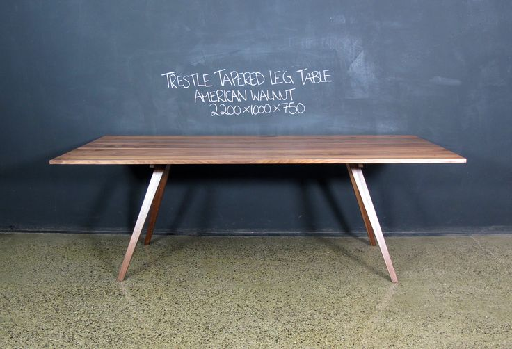 Trestle Tapered Leg Table. American Walnut. Custom made by Christian Cole.