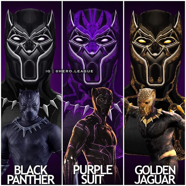 """11.8k Likes, 134 Comments - Nathan (@hero.league) on Instagram: """"Different #blackpanther (including #goldenjaguar ) suits! Which is your favourite? Comment down…"""""""