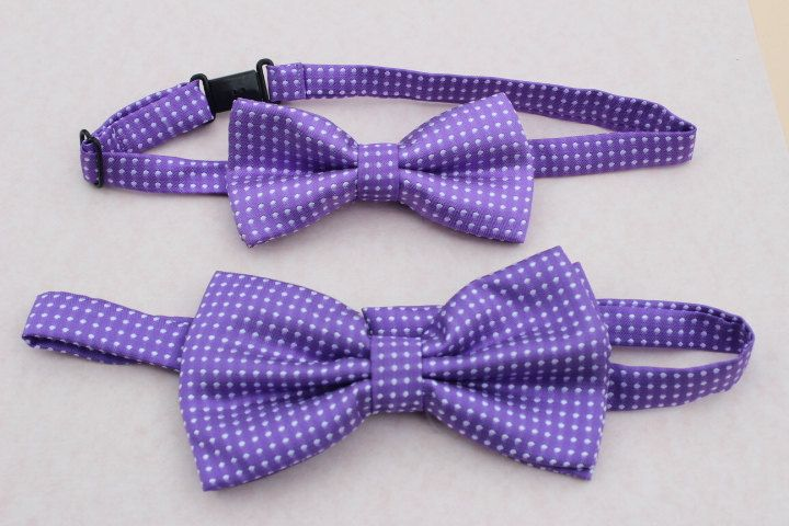 purple bow ties dad son bow ties polka dot ties men bow tie groomsmen bow tie toddler Easter boys bow tie ring bearer outfit purple bows by SummerBloomKids on Etsy