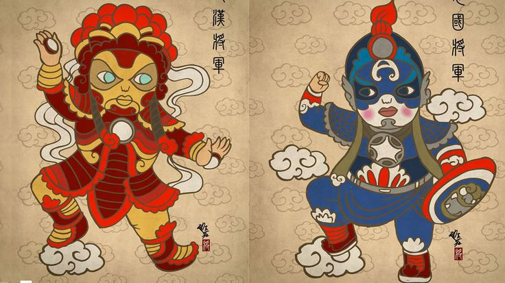 Marvel Heroes Meet Ancient China in Cool Mash-Up Art - Love!