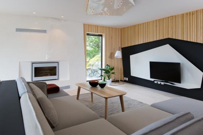 Etter Hvitt gulv speiler seg i blankt tak KITCHEN*DINING - moderne wohnzimmereinrichtung