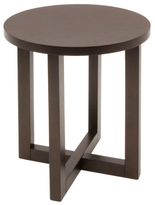Chloe 21 Round End Table In Mocha Walnut Regency Hwte2123mw