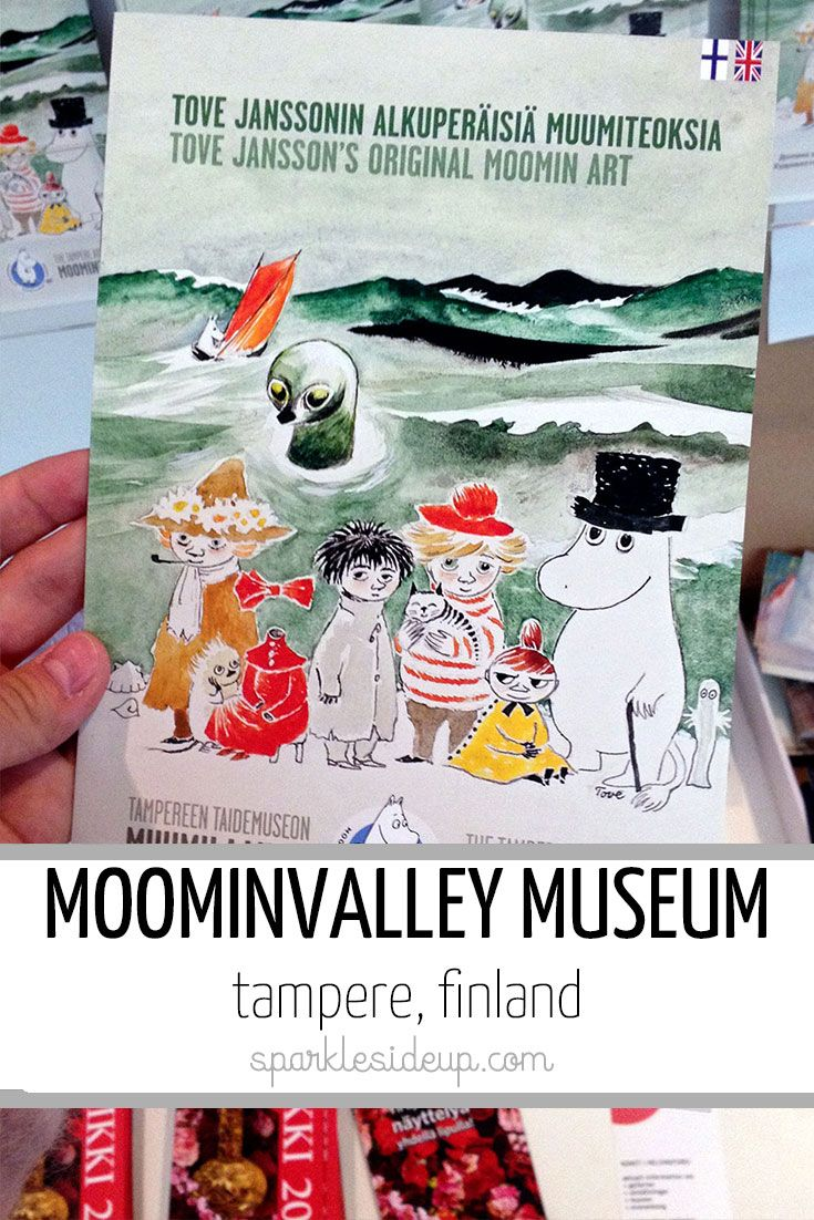 Moomin things in Tampere, Finland (Moominvalley museum and little Moomin sculpture)