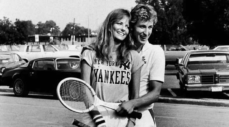 An intimate look at Gretzky's life off the ice throughout his career  -  March 25, 2017:     One of the perks of fame is you get to hobnob with models. Here, Gretzky schmoozes with Cheryl Tiegs during his charity tennis tournament.