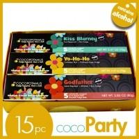 CocoParty chocolate truffle set includes Kiss Blarney, Yo-Ho-Ho & Godfather truffles.  All Cocopotamus truffles are handmade, natural & gluten-free.  Sold nationwide at www.cocopotamus.com