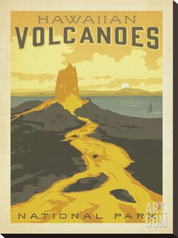 Hawaiian Volcanoes Stretched Canvas Print by Anderson Design Group at Art.com