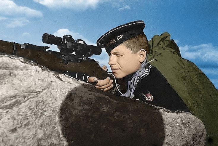 Soviet Navy sniper 1942