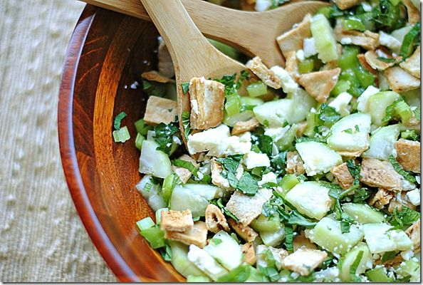 pita bread salad with cucumber, mint & fetaPita Breads, Breads Salad, Food Ideas, Feta Salad, Mint Salad, Cucumber Mint, Healthy Eating, Savory Recipe, Favorite Recipe