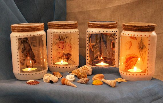 Decorative lanterns made οf vazes, create unique atmosphere on special occasions.