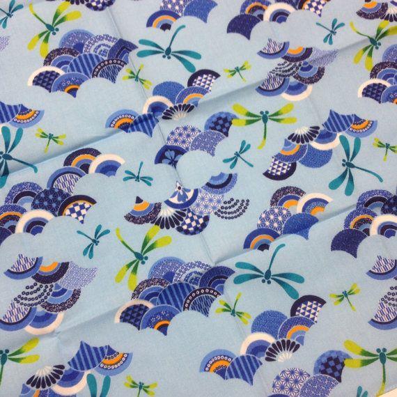 Furoshiki, furoshiki Japon, envolviendo la tela, tela japonesa, libélula, tapiz Japon, pared que cuelga, regalo de furoshiki, envío gratis