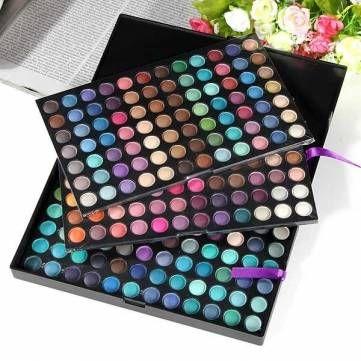 Pro completa 252 color maquillaje reflejo cosmético mate paleta de sombra de