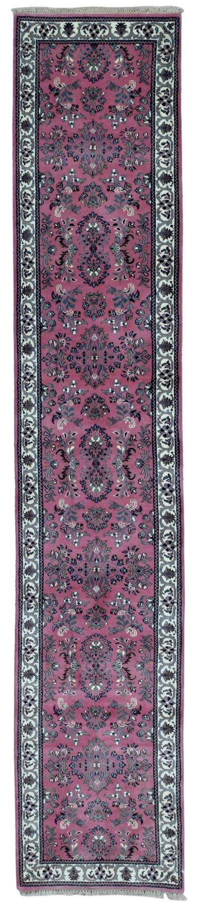 Fine Sarouk Oriental Long Runner Rug 2'X10'3