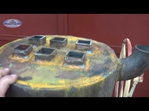 Переделываем буржуйку под водяное отопление! - YouTube