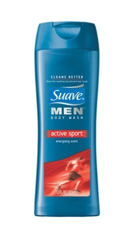 Suave Body Wash Men's, Active Sport, 12Ounce (Pack of 6) by Suave. $14.14. Also try suave shampoo and conditioner made especially for men. Cleans as well as more expensive brands. Energizing, masculine scent. Suave men active sport invigorating clean. rinses off clean...for an invigorating skin feel. provides an energizing, masculine scent...for fresh, clean smelling skin.