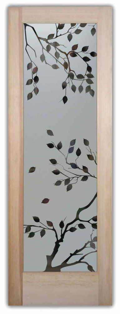Frosted Glass Doors Etched Glass Cherry Tree Door Sans Soucie