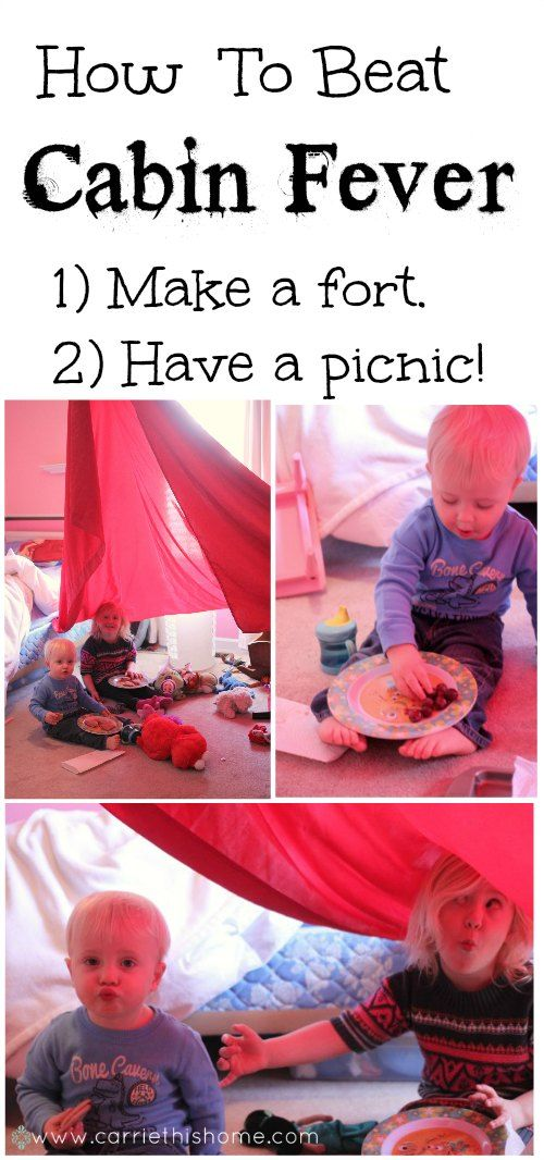 Indoor Picnic Activity--great to do on those days you can't get out of the house!