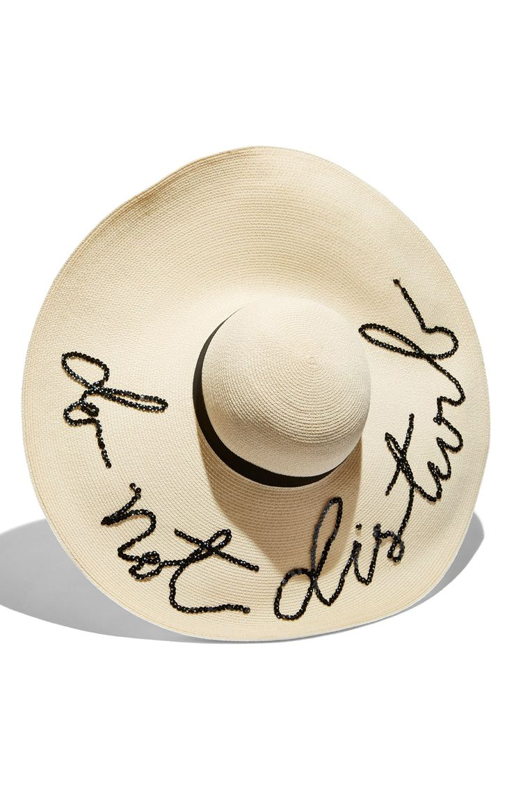 This playful floppy sun hat is a must for laying out on the beach or by the pool.